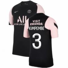 Черно-розовая футболка KIMPEMBE ПСЖ 2021-2022