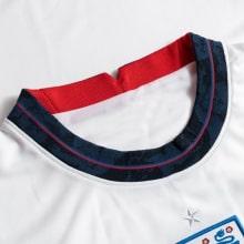 Детская домашняя футбольная форма Англии на ЕВРО 2020-21 футболка воротник
