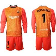 Вратарская форма Тер Штеген с длинными рукавами 20-21 оранжевая