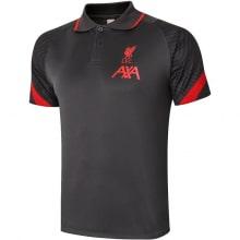 Черно-красная футболка поло Ливерпуля 20-21