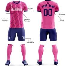 Футбольная форма сине розового цвета параллелограмм