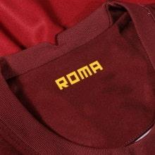 Домашняя игровая футболка Ромы 2020-2021 воротник