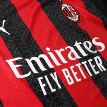 Домашняя футболка Милана 2020-2021 Златан Ибрагимович титульный спонсор
