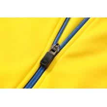 Желто-черный спортинвый костюм Наполи 2021-2022 молния