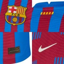 Домашняя аутентичная футболка Барселоны 2021-2022 логотипы