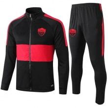 Черно красный тренировочный костюм Ромы 2020-2021