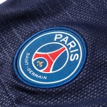 Детская домашняя форма ПСЖ 18-19 c длинными рукавами шорты герб клуба
