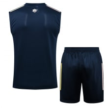 Темно-синяя тренировочная форма Арсенала 2021-2022 сзади