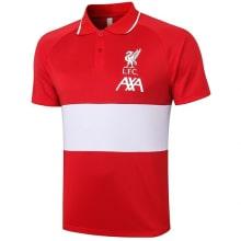 Красно-белая футболка поло Ливерпуля 20-21