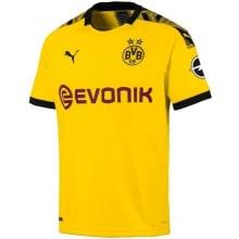 Домашняя футболка Боруссии Дортмунд 2019-2020 Торган Азар спереди
