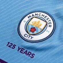 Взрослая форма Ман Сити 19-20 c длинными рукавами футболка герб клуба