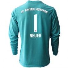 Голубая футболка Нойер с длинными рукавами 2020-2021