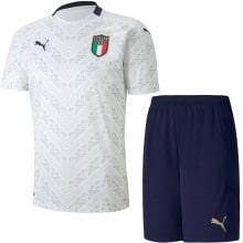 Детская гостевая футбольная форма Италии на ЕВРО 2020