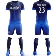 Футбольная форма синего цвета на заказ