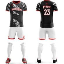Футбольная форма черно белого цвета пиксели на заказ