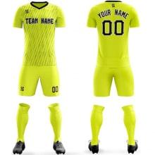 Футбольная форма желтого цвета Молнии на заказ