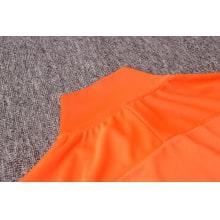 Черно оранжевый костюм сборной Голландии 2020-2021 воротник сзади