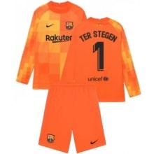 Оранжевая форма Тер Штеген с длинными рукавами 2021-2022
