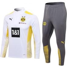 Серо-бело-желтый костюм Боруссии Дортмунд 2021-2022