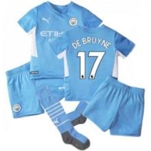 Детская домашняя футбольная форма Де Брёйне 21-22