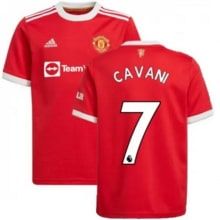 Домашняя игровая футболка Ман Юнайтед 2021-2022 Кавани