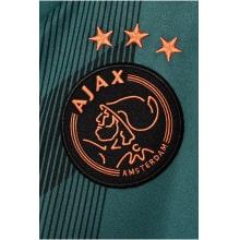 Гостевая игровая футболка Аякс Квинси Промес 2019-2020 номер 11 герб клуба