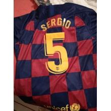 Домашняя футболка Барселоны 2019-2020 Серхио Бускетс номер 5