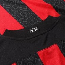 Домашняя игровая футболка Милан 2020-2021 воротник сзади