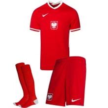 Гостевой комплект детской формы Польши на ЕВРО 2020-21