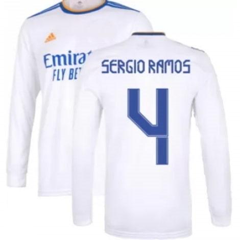 Домашняя майка Реала 21-22 Серхио Рамос с длинными рукавами