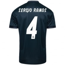 Гостевая футболка Реал Мадрид 2018-2019 Серхио Рамос номер 4