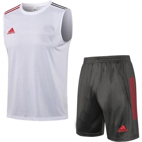 Серо-белая тренировочная форма Реал-Мадрид 2021-2022