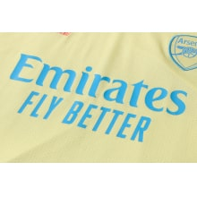 Желто-синяя тренировочная форма Арсенала 2021-2022 титульный спонсор