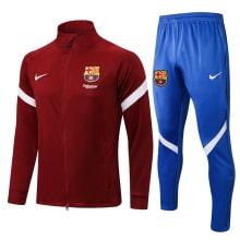 Сине-гранатовый спортивный костюм Барселоны 2021-2022