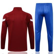 Сине-гранатовый спортивный костюм Барселоны 2021-2022 сзади