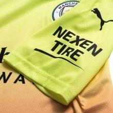 Детская третья форма Манчестер Сити 2019-2020 футболка рукав