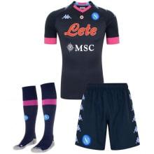 Комплект детской третьей формы Наполи 2020-2021 футболка шорты и гетры