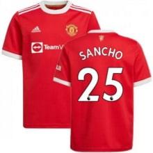 Домашняя игровая футболка Ман Юнайтед 2021-2022 Санчо