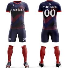 Футбольная форма сине красно-бордового цвета ЗигЗаг на заказ