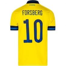 Домашняя футболка Швеции на ЕВРО 2020 ФОРСБЕРГ