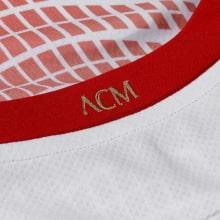Детская гостевая футбольная форма Милан 2020-2021 футболка воротник сзади