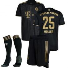 Детская гостевая форма Баварии Томас Мюллер 2021-2022