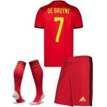 Детская домашняя форма Бельгии Де Брюйне на ЕВРО 2020-21