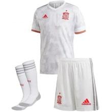 Детская гостевая футбольная форма Испании на ЕВРО 2020