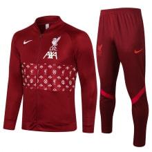 Темно-бордовый спортивный костюм Ливерпуля 2021-2022