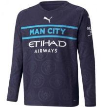 Третья футболка Ман Сити 2021-2022 с длинными рукавами