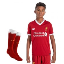 Детская домашняя футбольная форма Ливерпуля 2017-2018 футболка, шорты и гетры