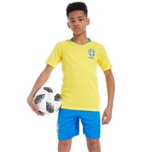 Домашний комплект детской формы Бразилии на ЧМ 2018