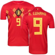 Домашняя футболка сборной Бельгии на ЧМ 2018 Ромелу Лукаку номер 9