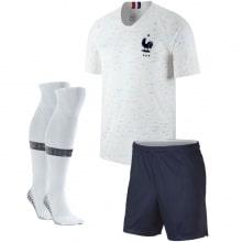 Детская гостевая футбольная форма Франции на ЧМ 2018 футболка шорты и гетры